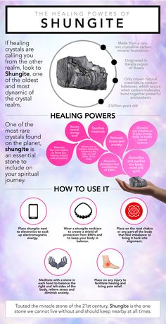 Touted the miracle stone of the 21st century, wake up and realize Shungite's healing potential! From pain relief to EMF protection, which of the shungite benefits are you seeking? Healing Stones, Healing Crystals, Chakra Healing, Healing Meditation, Crystal Healing Chart, Meditation Stones, Crystal Meanings, Crystal Collection, Crystals And Gemstones