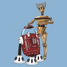 Star Wars Droids x MST3K Bots Mashup Art