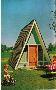awesome a frame playhouse from the Practical Encyclopedia of Good Decorating and Home Improvement.