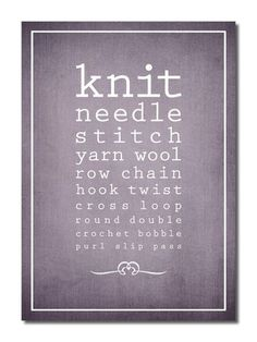 Eye Chart for Knitters