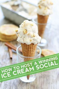 Tips for Hosting an Ice Cream Social! The perfect party for summertime!