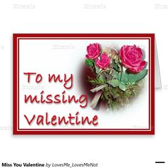 Miss You #Valentine Stationery Note Card by #LovesMe_LovesMeNot #Gravityx9 #Zazzle -