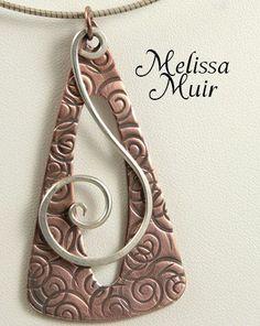 Necklace by  Melissa Muir - Kelsi's Closet Jewelbox Design Journal #MetalJewelry