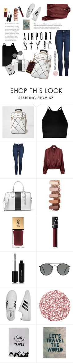 """""""37. Take Off"""" by liv715 ❤ liked on Polyvore featuring River Island, Boohoo, Topshop, Mulberry, MICHAEL Michael Kors, Yves Saint Laurent, NARS Cosmetics, Marc Jacobs, Ray-Ban and adidas"""
