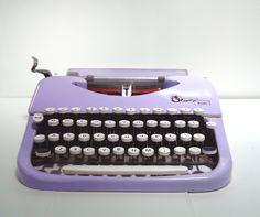 Violet Cream Oliver Typewriter, Reconditioned