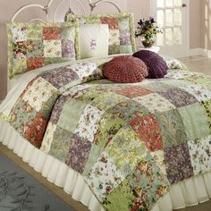 Patchwork Quilts | Blooming Prairie Cotton Patchwork Quilt Bedding Set