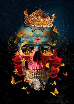 Dark Silence In Suburbia — André Sanchez [& & &] Apple Logo Wallpaper Iphone, Skull Wallpaper, Vanitas, Cool Skeleton, Skull Pictures, Sugar Skull Art, Sugar Skulls, Skull Artwork, Damien Hirst