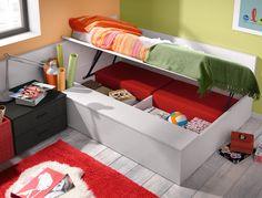 cama con baúl lateral convertible en sofá de la colección Home at home
