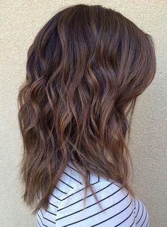 Caramel Tones + Beach Waves - 47 Hot Long Bob Haircuts and Hair Color Ideas