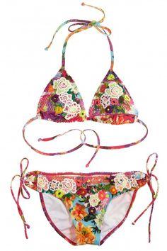Agua Bendita Azucena String Bikini Top | Calypso St. Barth