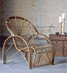 fauteuil en rotin Sika design via Nat et nature