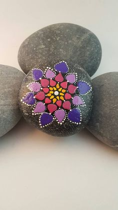 Mandala Stone by PierreduCoeur on Etsy