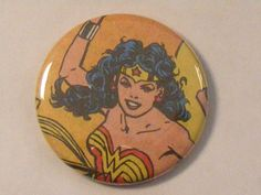 "Comic Book 1.5"" Button// Wonder Woman, $1.00"