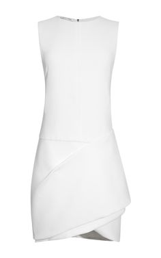 White Crepe Sable Dress by Narciso Rodriguez for Preorder on Moda Operandi