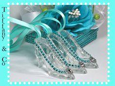 Tiffany Inspired Glass Slipper Cinderella by FavorsBoutique