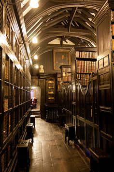 Chetham Library, Manchester, United Kingdom -- Sort of reminds me of the wand shop from Harry Potter and the Sorcerer's Stone (or The Philosopher's Stone in England)