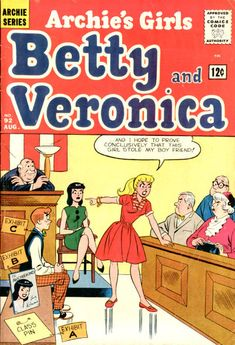 Cover for Archie's Girls Betty and Veronica (Archie, 1950 series) Archie Comics Characters, Archie Comic Books, Comic Book Characters, Book Cover Art, Comic Book Covers, Archie Comics Riverdale, Romantic Comics, Children's Comics, Betty And Veronica