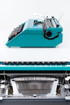 The portable typewriter Olivetti Studio 45 is designed by Ettore Sottsass (who is also the designer of the famous Valentine) and Hans von Klier in