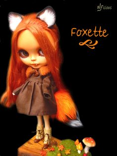 Ooak Custom Blythe doll Original Takara Foxette  by ELFiciousShop
