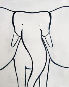 nursery art by adriane duckworth #elephant