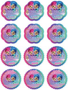 "Shimmer and Shine Thank you, Shine Sticker, Cupcake Topper, Shine Gift Tag, Shine Favor Tag, Shine Party, Shimmer, Shine Cupcake Topper Click on the orange ""+ MORE"" to view full item details and purchasing instructions. ===You are purchasing: ***DIGITAL PDF IMAGE FILE***. ===My shop"