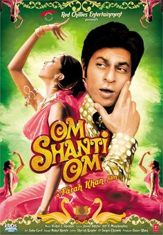 Shah Rukh Khan and Deepika Padukone - Om Shanti Om Hindi Movies, Srk Movies, Good Movies, Amazing Movies, Movies Free, Om Shanti Om, Rishi Kapoor, Deepika Padukone, Best Bollywood Movies