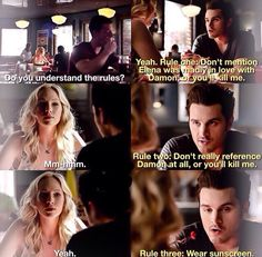 Carenzo!!!!!! This ship shall stay afloat! The Vampire Diaries Season 6 Enzo and Caroline