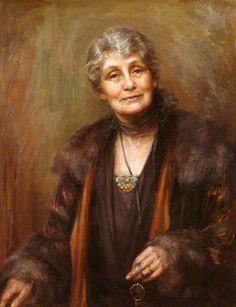 Emmeline Pankhurst, 1927 by Georgina Brackenbury (1865-1949)