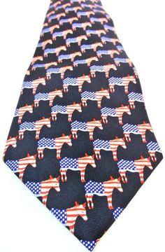 Democratic Party Tie Necktie Flag Donkey Political Election Museum Artifacts Silk #MuseumArtifacts #Tie #DemocraticParty #Donkey #ElectionYear