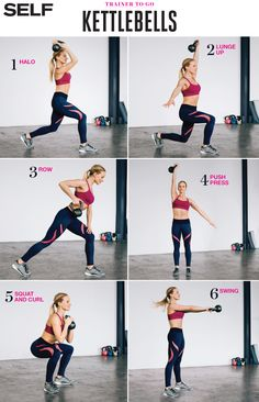These kettlebell moves deliver toning, core strengthening and a cardio session—all in one workout.