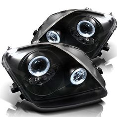 ( Spyder ) Honda Prelude 97-01 Projector Headlights - LED Halo - Black - High H1 (Included) - Low H1 (Included)