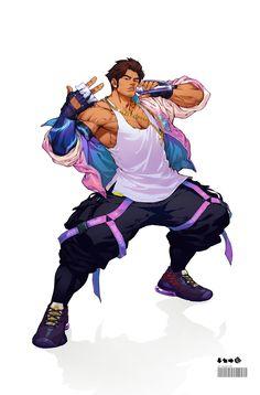 Game Character, Character Concept, Concept Art, Street Fighter Characters, Mortal Kombat Art, Great Works Of Art, Arte Cyberpunk, Cyberpunk Character, Character Art