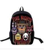 "FIVE NIGHTS AT FREDDYS BACKPACK 16/"" CANVAS School BAG BIRTHDAY GIFT BOYS GIRLS"