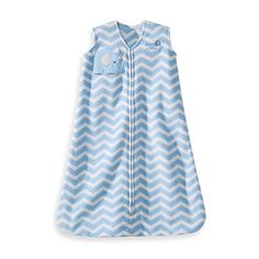 HALO® SleepSack® Wearable Blanket in Blue Zigzag Elephant