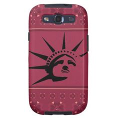 Lady Liberty Samsung Galaxy S3 Case #StatueOfLiberty #Statue #Liberty #Freedom #Mobile #Phone #Samsung #Case #Cover #Stars