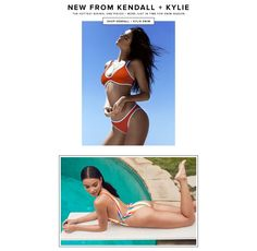 New From Kendall + Kylie. The hottest bikinis, one-pieces + more just in time for swim season. Kendall, Kylie, Buy Youtube Subscribers, Brand Book, Hot Bikini, Fasion, Swimming, Drink, Bikinis