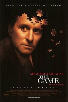 1997 Directed by David Fincher. With Michael Douglas, Deborah Kara Unger, Sean Penn, James Rebhorn. Wealthy San Francisco financier Nicholas Van Orton gets a strange birthday present from wayward brother Conrad: a live-action game that consumes his life. Sean Penn, See Movie, Film Movie, Series Movies, Outlander, Toy Story, Epic Story, Game Poster, Movie Posters