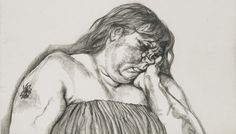 Lucian Freud, Woman with an Arm Tattoo, 1996, Etching, Plate. Repinned from Whitney Taylor via drawdrawdraw.