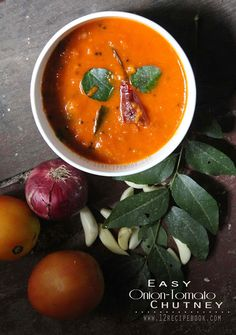 Onion Tomato Chutney For Dosa - Recipe Book