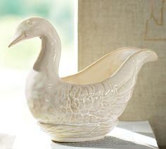 12 days of christmas- pottery barn-Six Geese Laying Gravy Boat