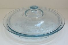Vintage Anchor Hocking #FireKing Philbe Sapphire Blue Pie Plate with Lid
