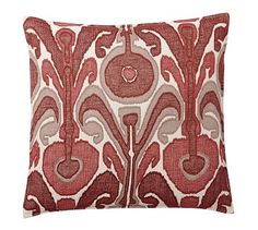Kenmare Ikat Embroidered Pillow Cover #potterybarn