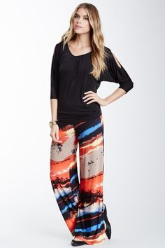 Abstract Print Palazzo Pant by 24/7 Comfort on @HauteLook