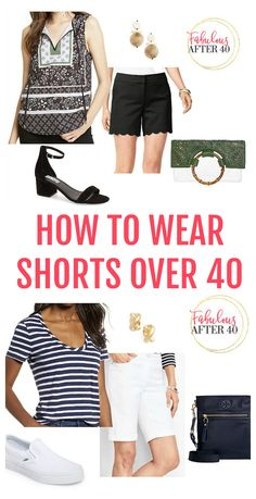 Say yes to shorts over Style tips for feeling confident in shorts over 40 Clothes For Women Over 40, Fashion For Women Over 40, Casual Summer Outfits, Summer Dresses For Women, Summer Clothes, Cool Sweaters, Look Chic, Everyday Look, Shorts