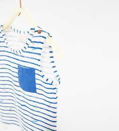 Striped and surfer T-shirt from Zara