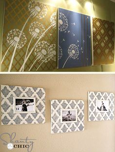 DIY wall art home decor with stencils.