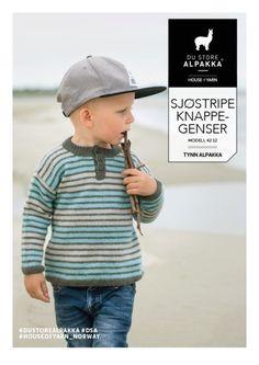 DSA42-12 Sjøstripe knappegenser – Du Store Alpakka