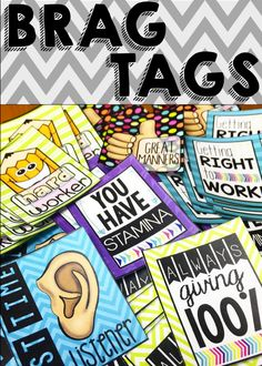 Brag tags are an effective classroom management tool to use with your students to help them strive towards meeting their academic and behavior goals. Effective Classroom Management, Classroom Behavior Management, Behavior Goals, Classroom Discipline, Positive Behavior, Preschool Behavior, Student Behavior, Positive Reinforcement, Classroom Rewards