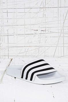 adidas Originals Adilette Pool Sliders in White