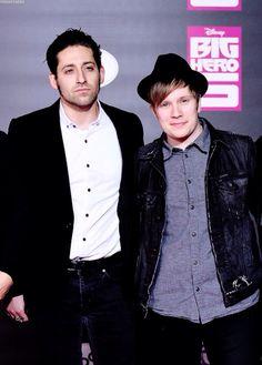 Joe and Patrick of Fall Out Boy
